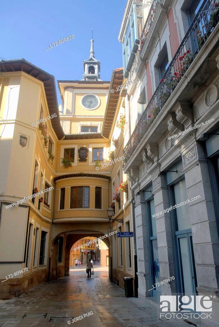 Stock Photo: Town Hall, Oviedo. Asturias, Spain.