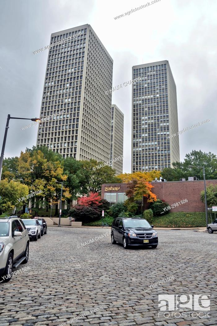 Stock Photo: New high-rise buildings in the Old Town, Philadelphia, Pennsylvania, USA.