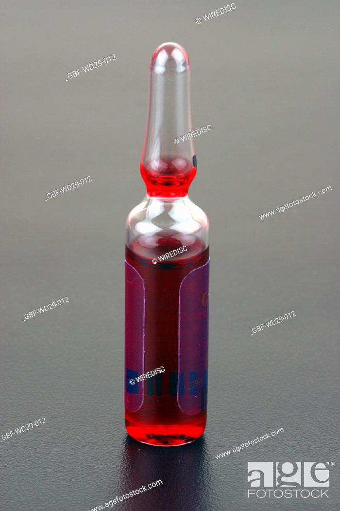 Stock Photo: Medicine, ampoule, remedy.