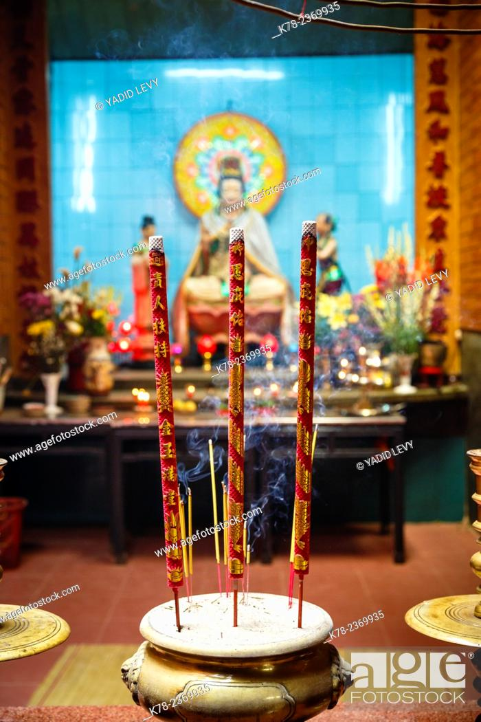 Stock Photo: Incense sticks at Ong Temple, Can Tho, Mekong Delta, Vietnam.