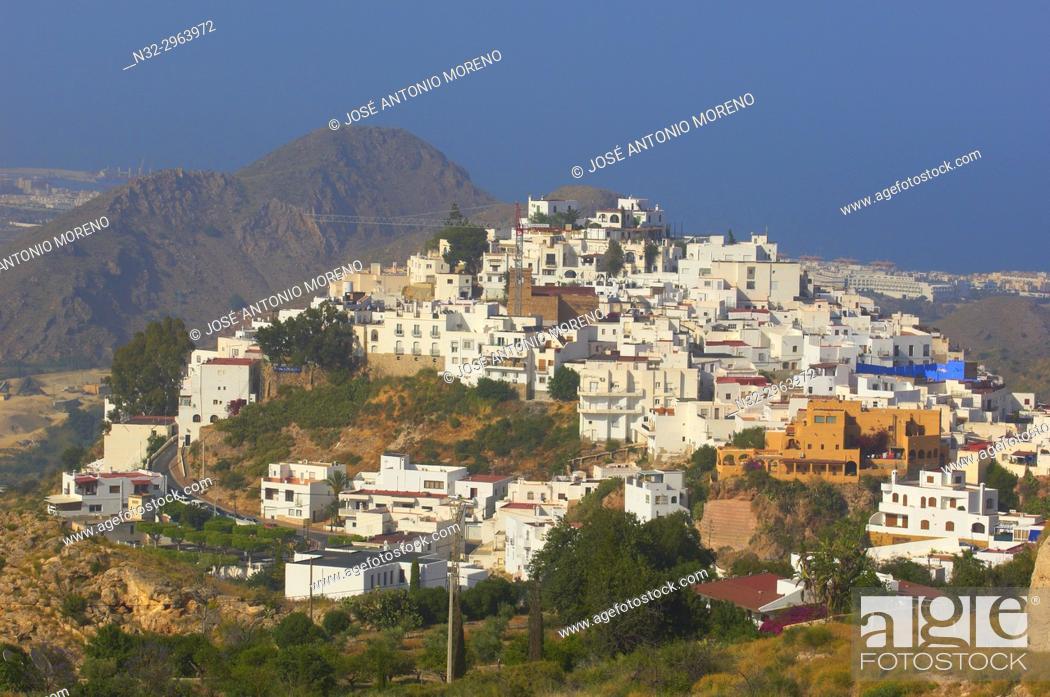 Stock Photo: Mojacar, Old town, Almeria province, Andalusia, Spain.