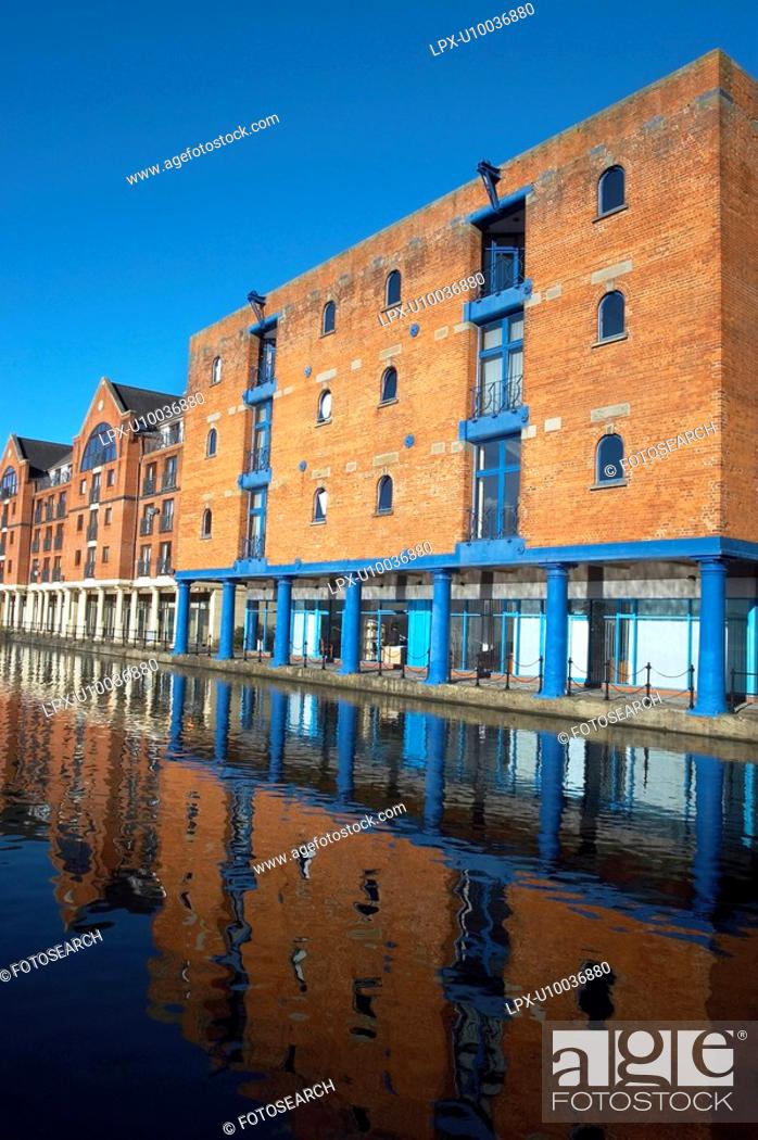 Stock Photo: Riverside development, England.