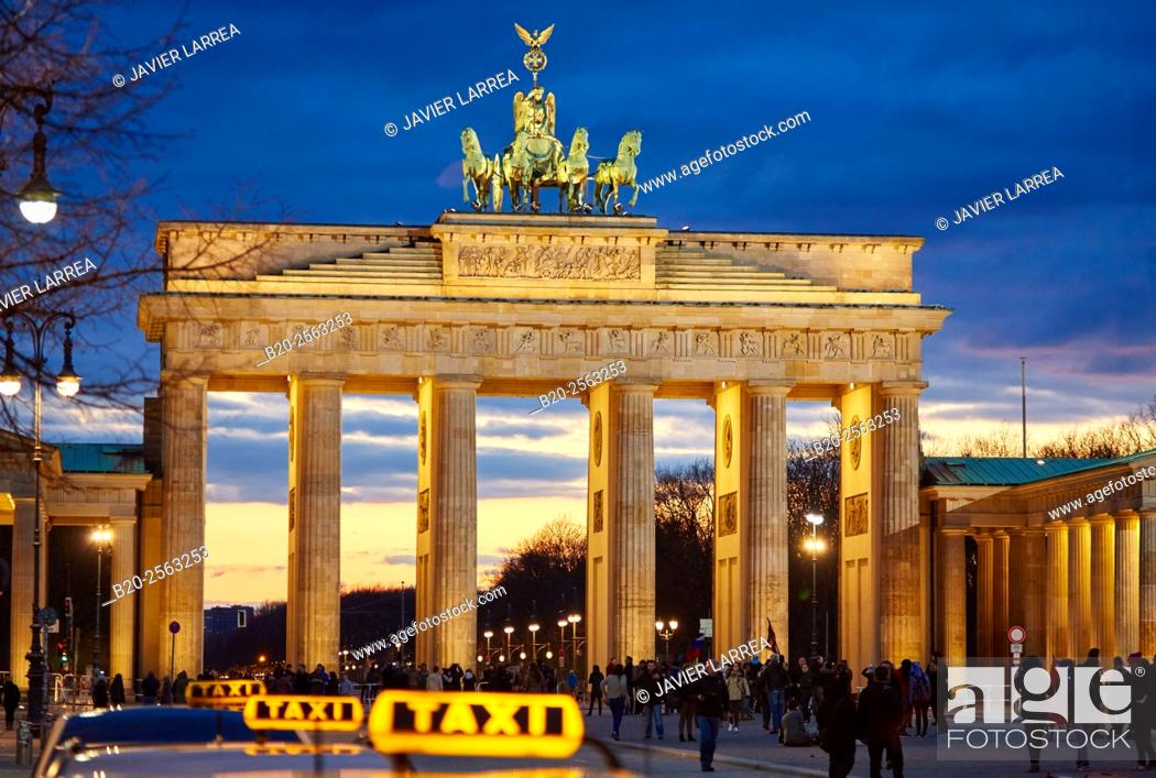 Stock Photo: Brandenburg Gate, Berlin, Germany.