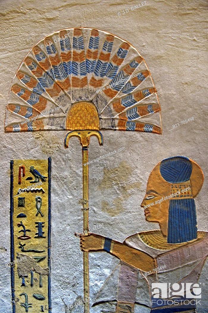 Stock Photo: Kings Valley: tumb of Ramses Vl. Luxor west bank. Egypt.