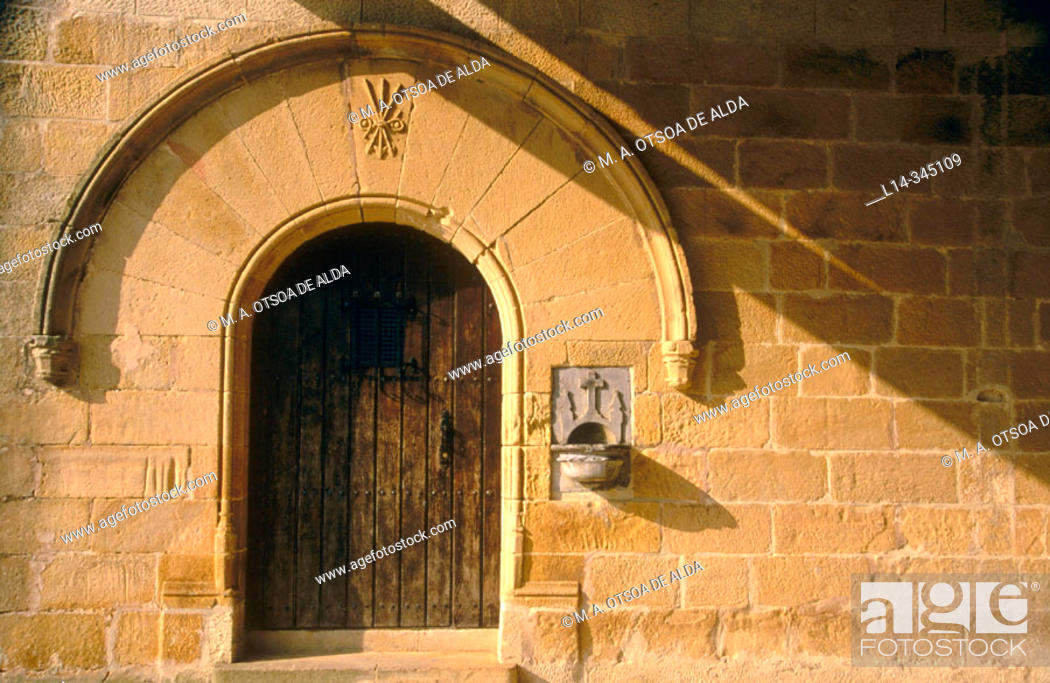 Stock Photo: Urteta chapel, entrance. Guipuzcoa. Basque country. Spain.