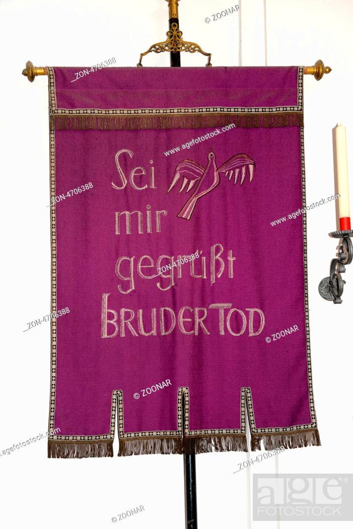 Fahre Mit Der Aufschrift Sei Mir Gegrusst Bruder Tod Flag With The