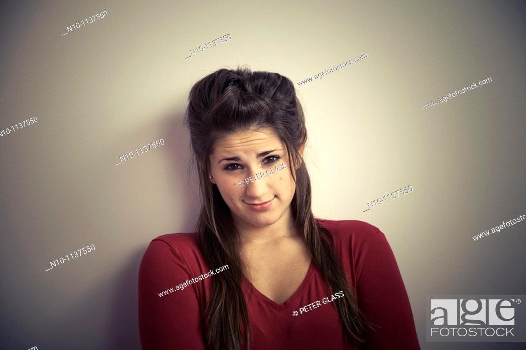 Stock Photo: Teen girl posing.