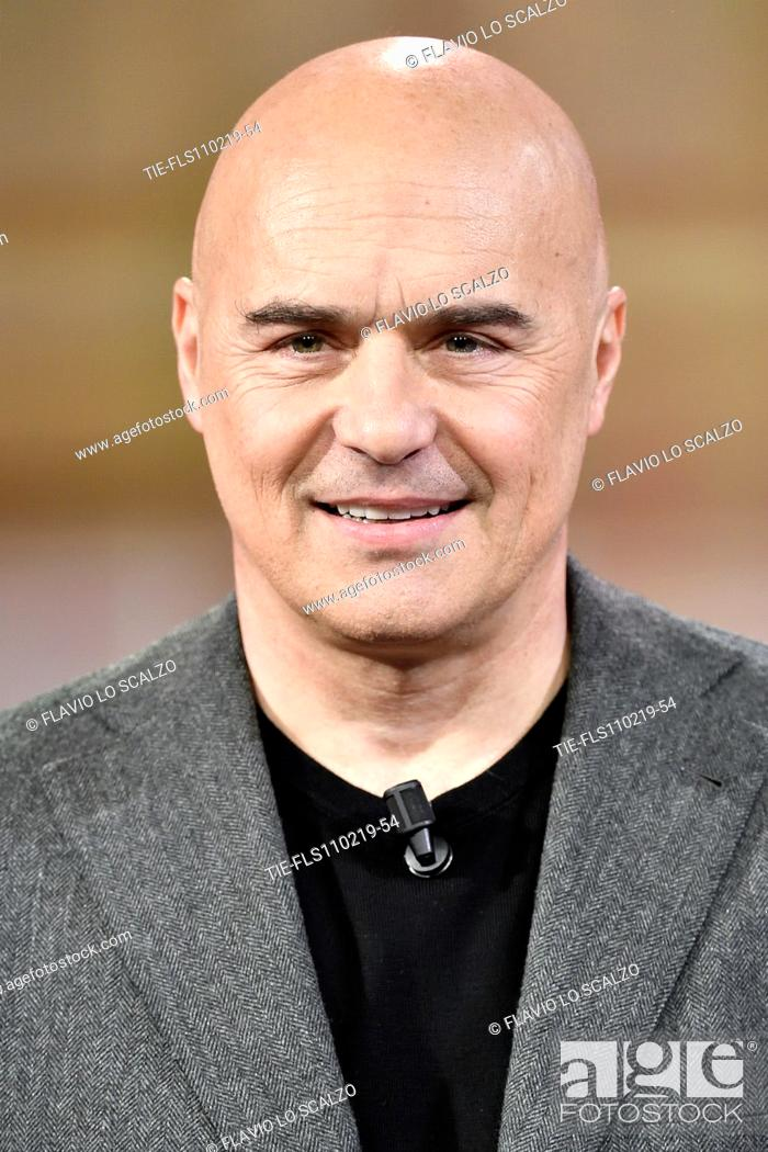 Imagen: Actor Luca Zingaretti during the tv show Che tempo che fa, Milan, ITALY-10-02-2019.