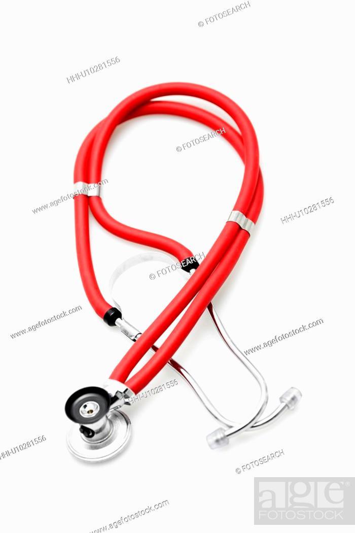 Stock Photo: Stethoscope (close-up).