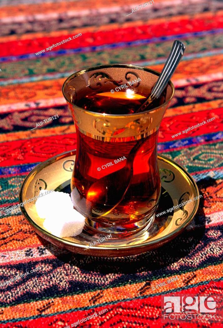 Stock Photo: Turkey - Istanbul - Turkish Tea.
