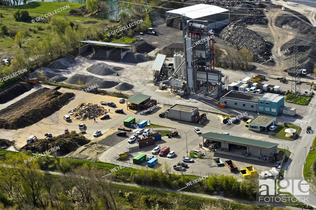 Photo de stock: Waste disposal site Verney, Dechetterie du Verney, Martigny, Valais, Switzerland.
