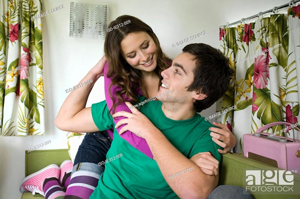 Stock Photo: A teenage couple.