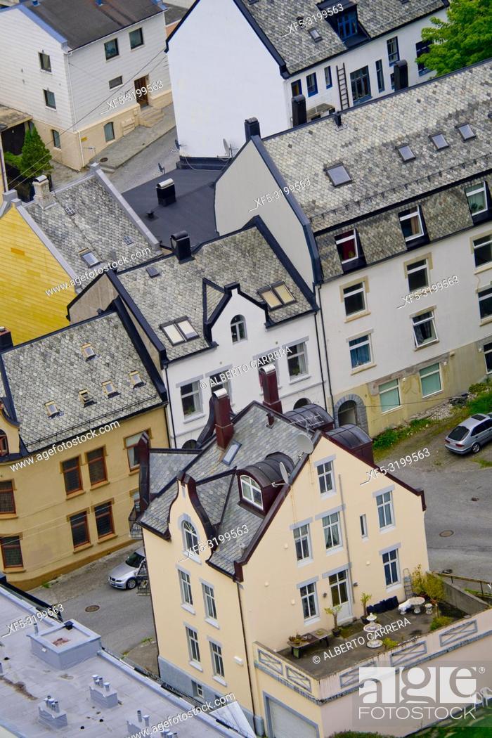Imagen: Cityscape, Alesund, Norway, Scandinavia, Europe.