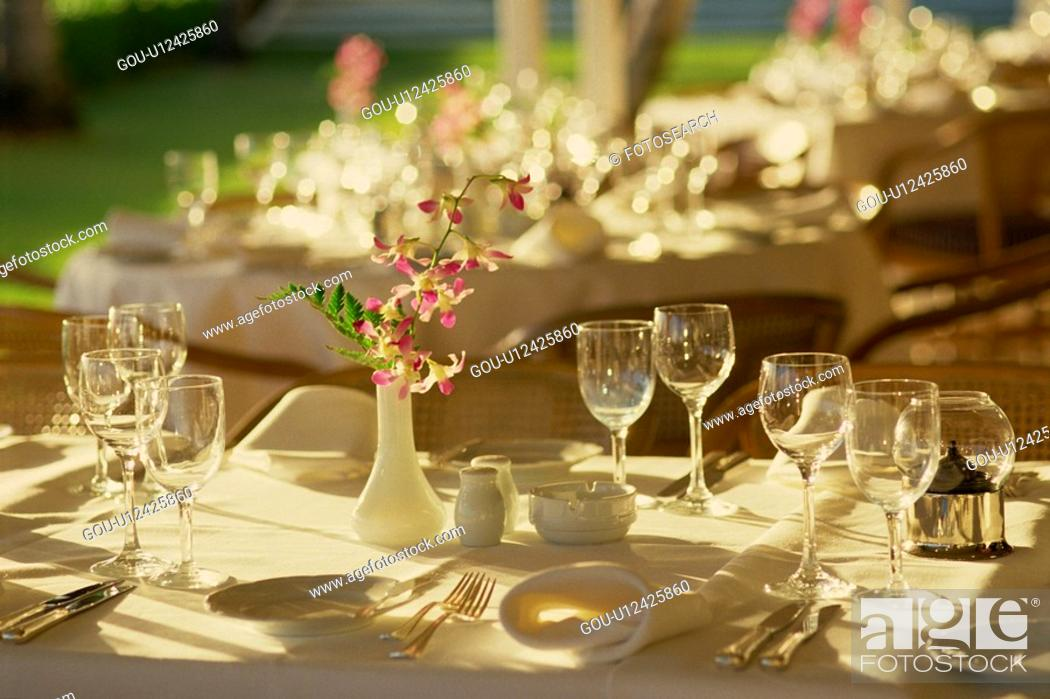 Stock Photo: Place Setting.