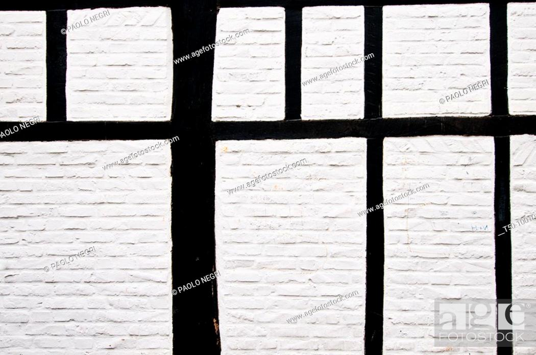 Stock Photo: Germany,North Rhine,Westphalia,Kempen, facade of timbered house.