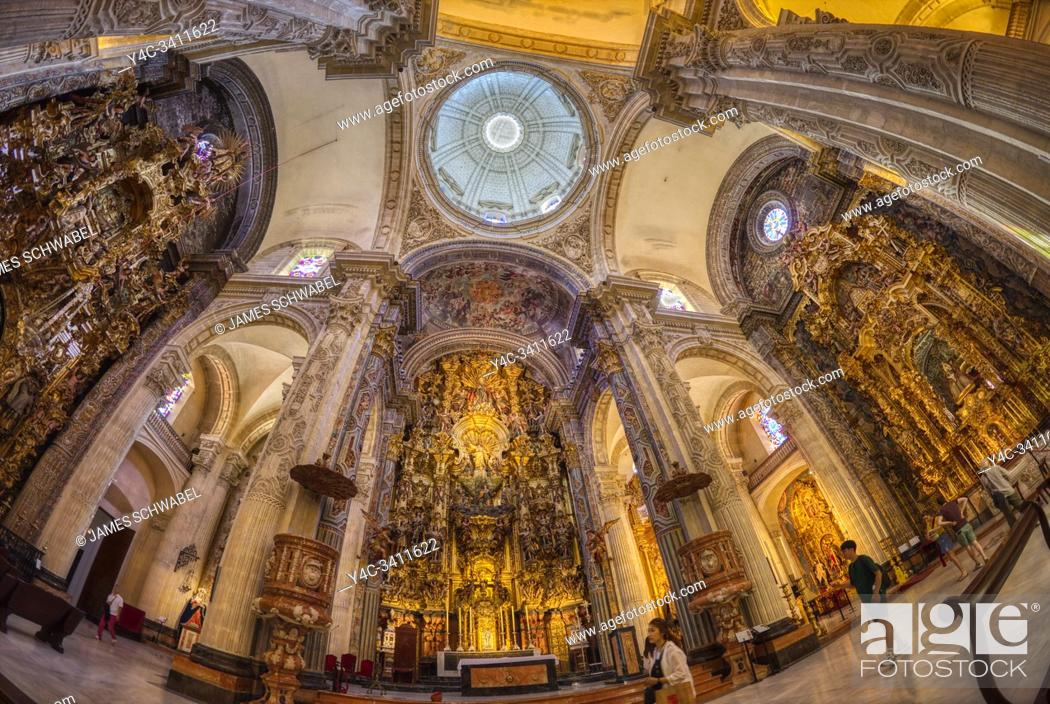 Stock Photo: Interior of Church of Our Saviour - Iglesia del Salvador in Seville Spain.