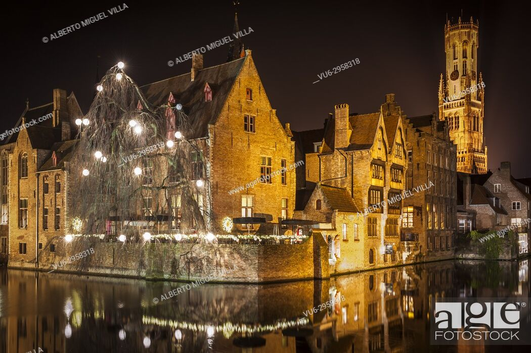 Stock Photo: City of Belgium, Brugge, beautiful to visit in any season of the year. Very well maintained and offering postcards in every corner of this city full of.