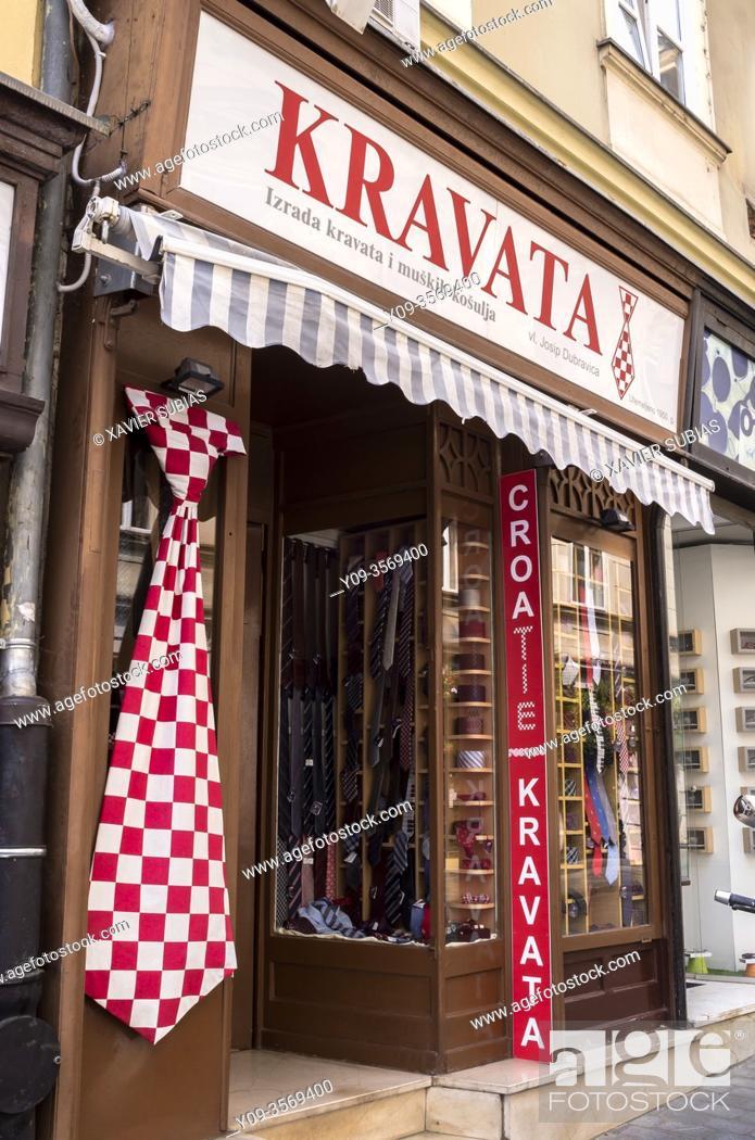 Stock Photo: Kravata Shop, Zagreb, Croatia.