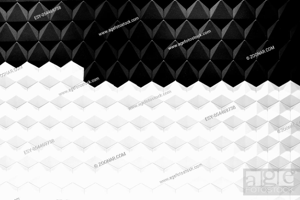 Stock Photo: Modern architecture black and white steel, architectural design, architecture background concept.