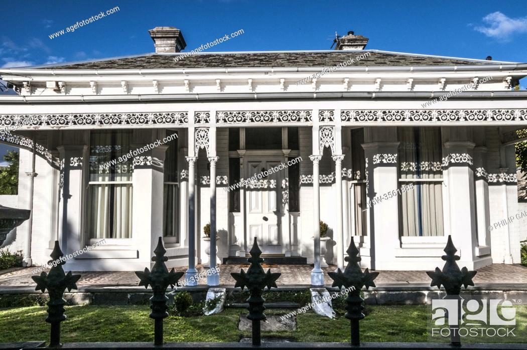 Stock Photo: Victorian-era villa in suburban Melbourne, Australia.