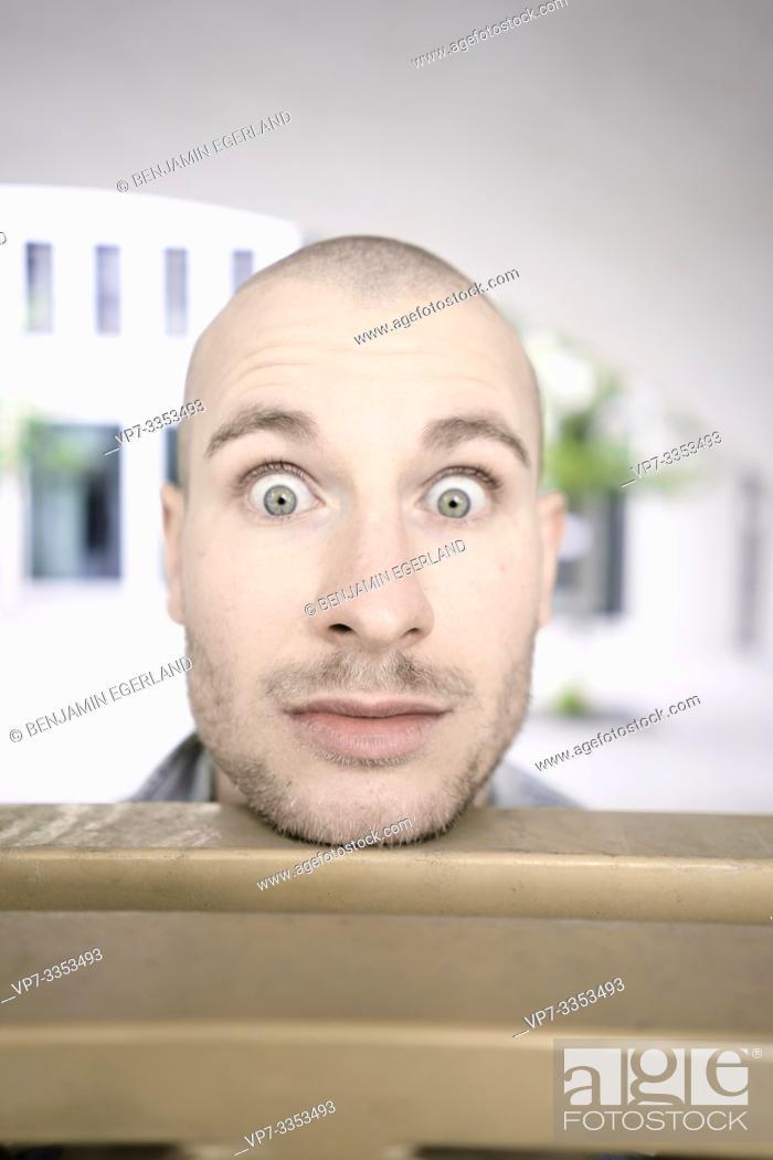 Stock Photo: shocked man with big eyes.