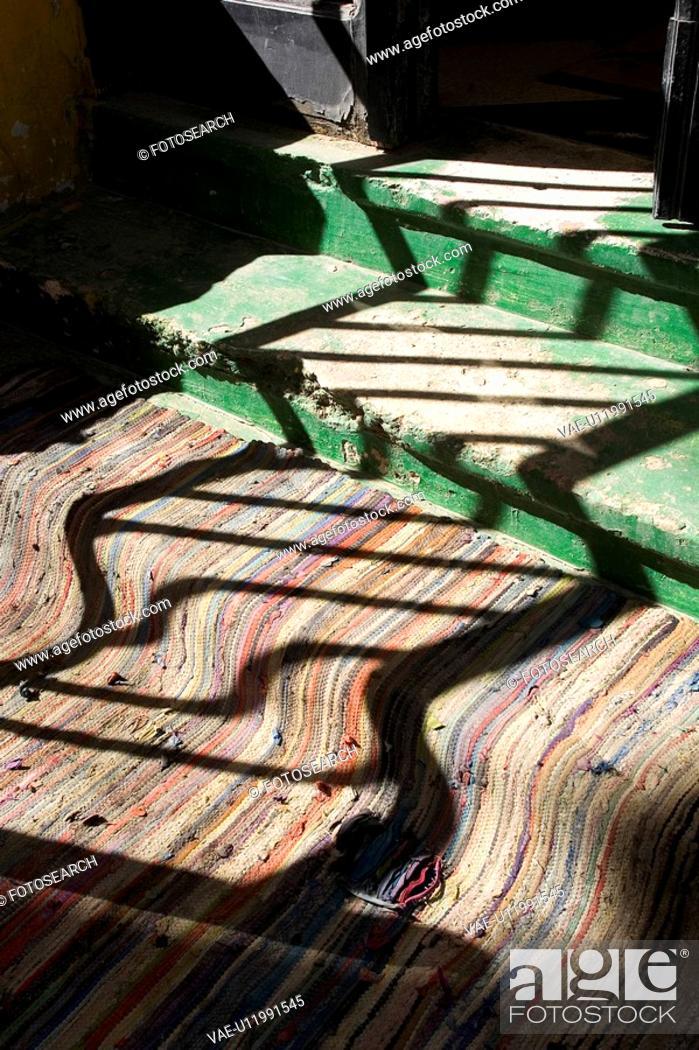 Stock Photo: Carpet, Close-Up, Day, Doorstep, Doorway.