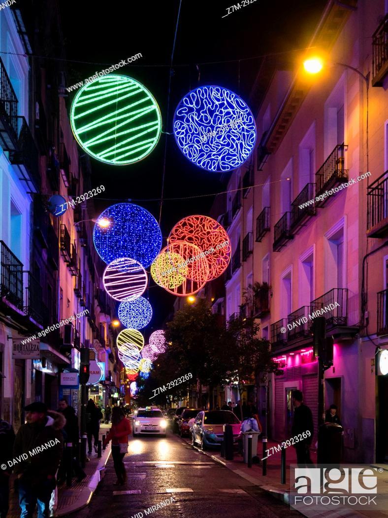 Imagen: Christmas lights. Hortaleza Street. Madrid, Spain.
