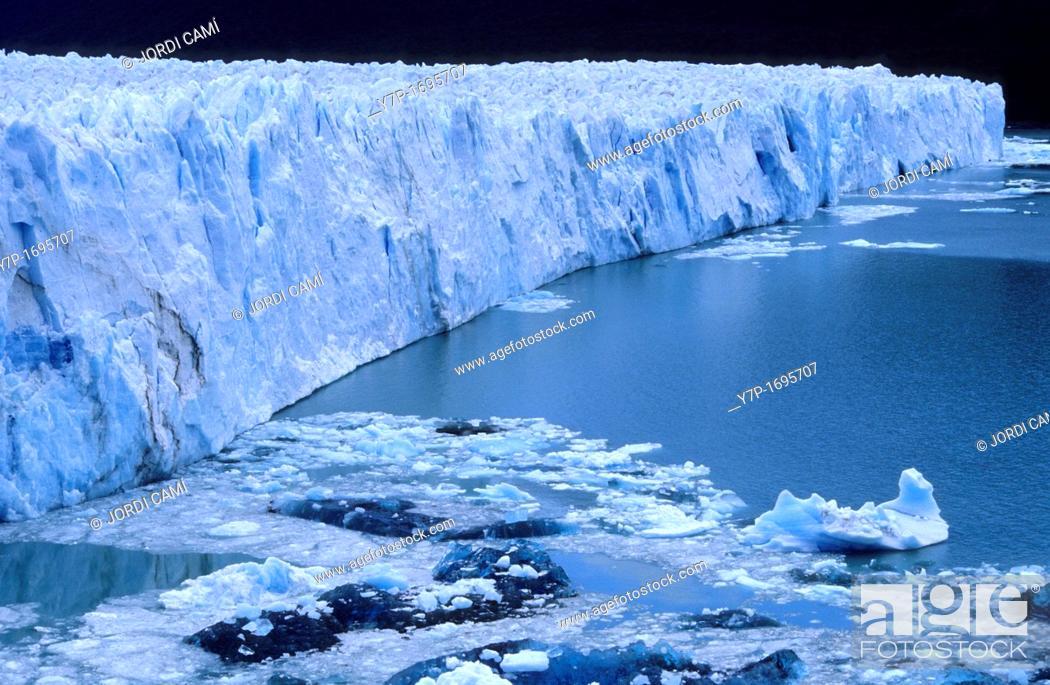 Stock Photo: Perito Moreno glacier Los Glaciares National Park, El Calafate area, Santa Cruz province Patagonia Argentina.