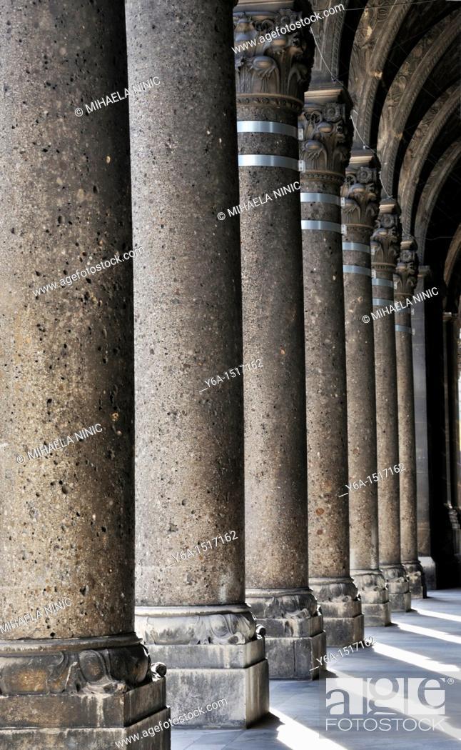 Stock Photo: Stone columns, Vienna, Austria, Europe.