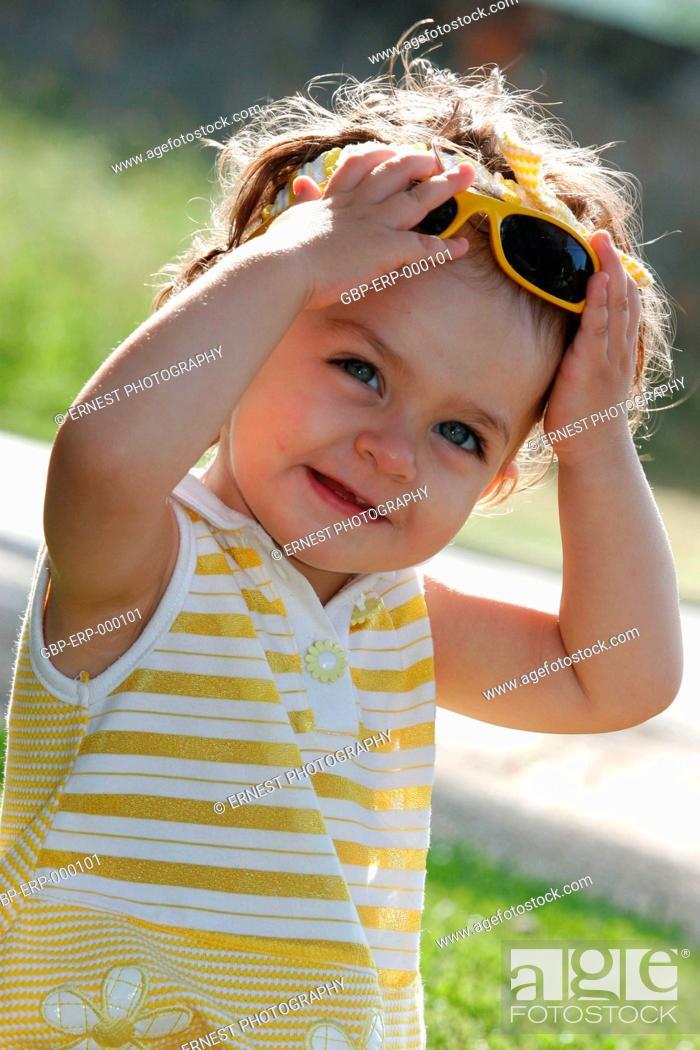 Stock Photo: Baby, 1 year; Isolated,.