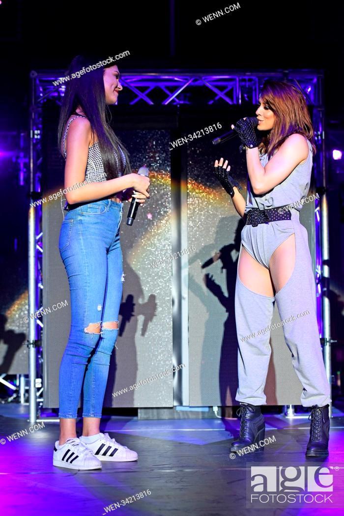 Stock Photo: Vanessa Mai and influencer and singer Ana Lisa Kohler perform live at a concert during her 'Regenbogen Live 2018' tour at Tempodrom.