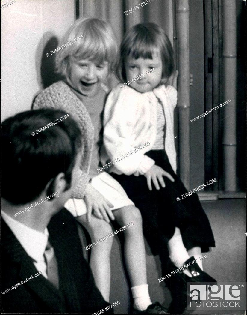 Stock Photo: Oct. 10, 1970 - Heart Girl Arrives Home: 5-year old Suzanne Jones, of Tonyrefail, Glamorgan, who underwent a heart operation by Prof.