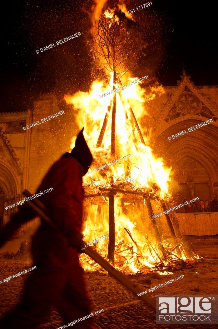 Stock Photo: Devils during the San Antoni Festival in Morella, Castellon, Spain.
