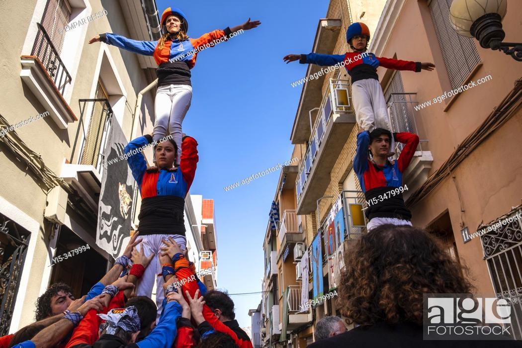 Stock Photo: Muixeranga. Picanya, València. Spain. 2020.