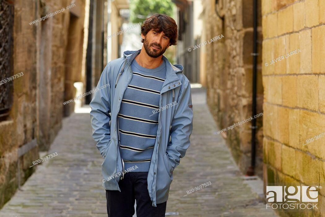 Stock Photo: Young man with sailor clothes, Pasaia, Gipuzkoa, Basque Country, Spain, Europe.