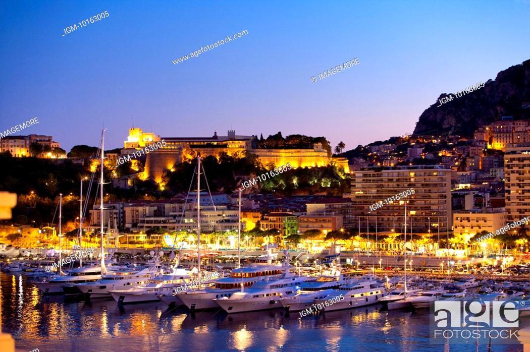 Stock Photo: Harbor in Monaco.