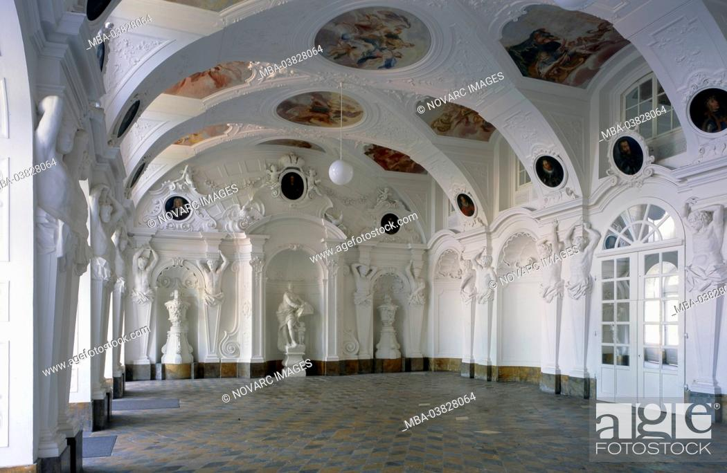 Imagen: Imperial Hall in the City Palace of Fulda, Hesse, Germany,.