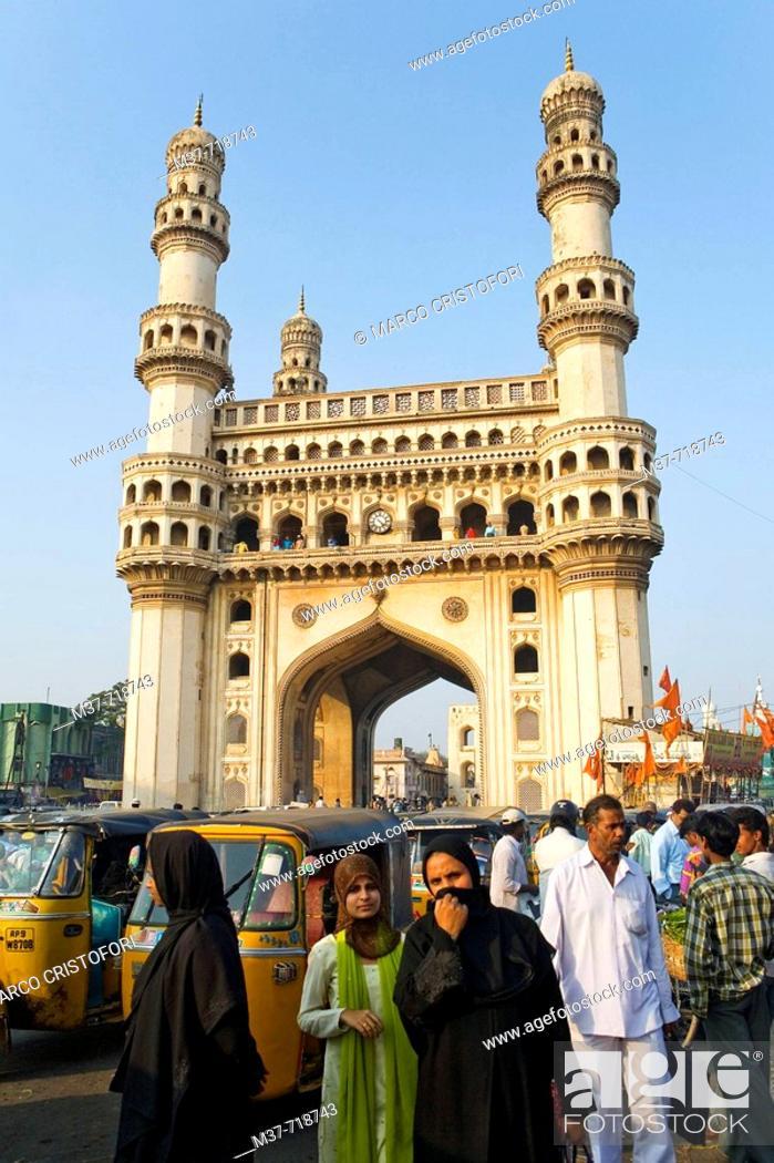 Stock Photo: India. Hyderabad. Charminar.