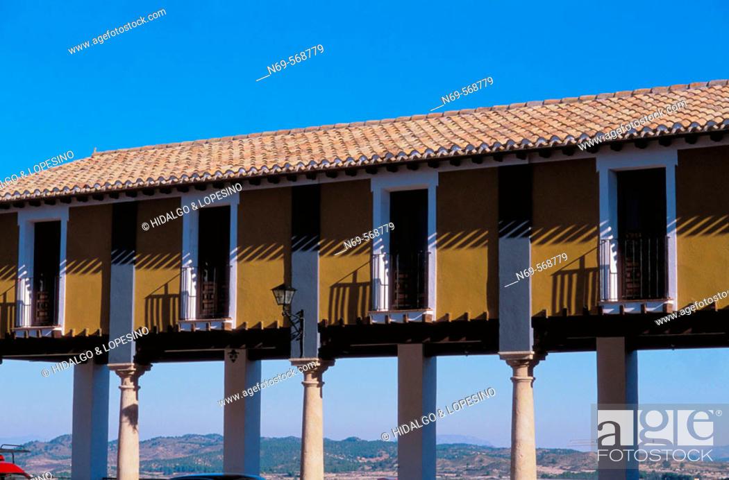 Stock Photo: Cehegín. Main square. Murcia province. Spain.