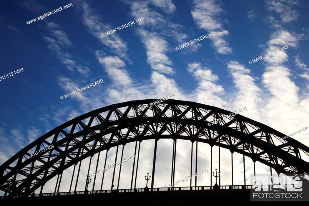 Stock Photo: Tyne Bridge Newcastle Gateshead England.
