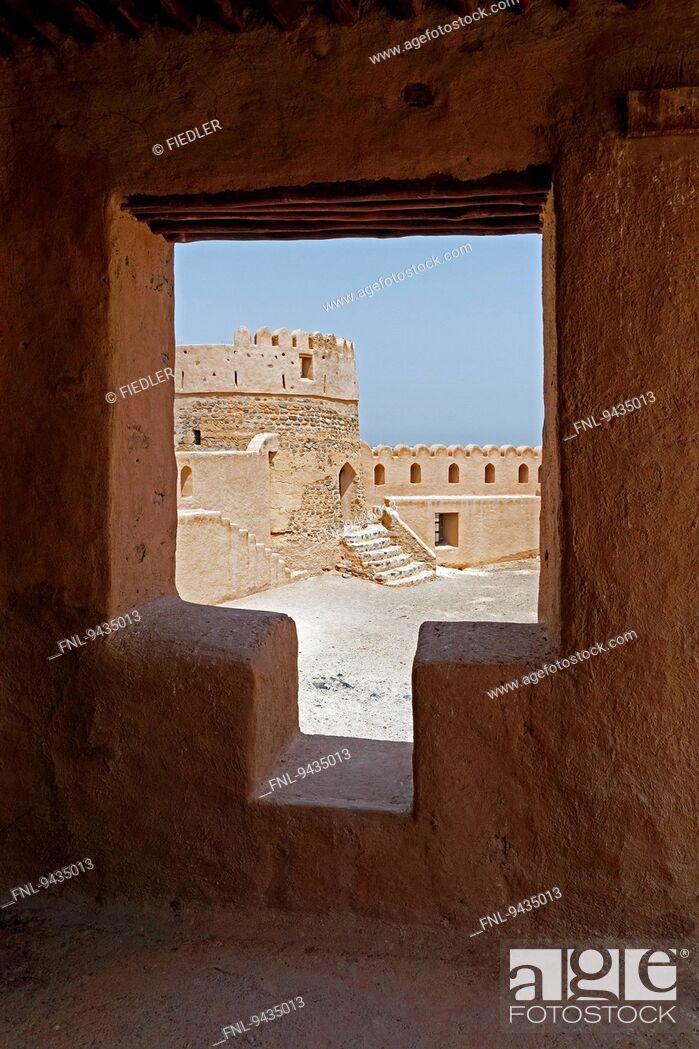 Stock Photo: Fujairah Fort, Heritage Village, Fujairah, United Arab Emirates.