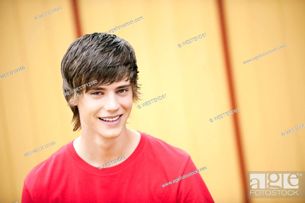 Stock Photo: Germany, Bavaria, Portrait of a young man.