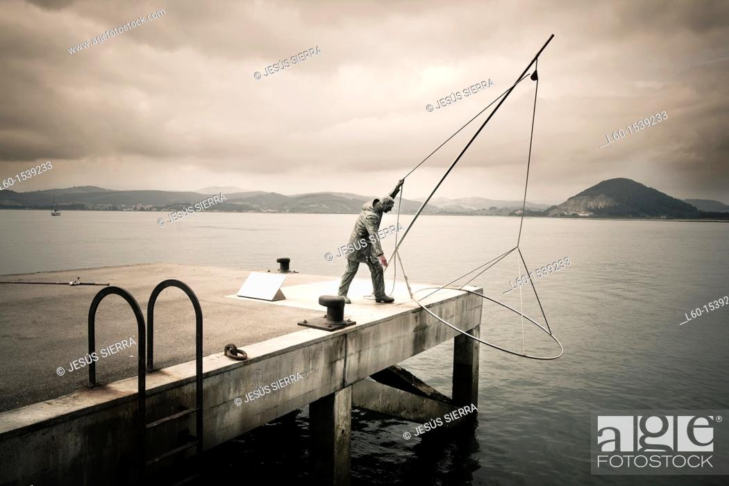 Stock Photo: Harbour in Santoña, Cantabria, Spain.