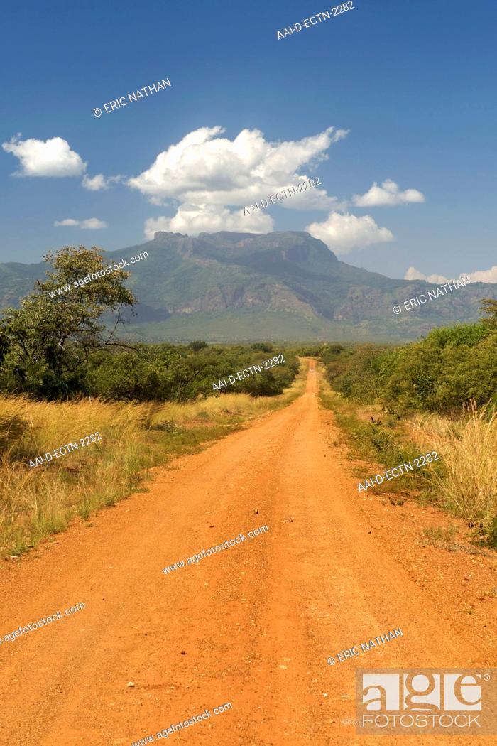 Stock Photo: Mt Kadam 3068m in the Debasien range of mountains in the Nakapiripirit region of eastern Uganda.