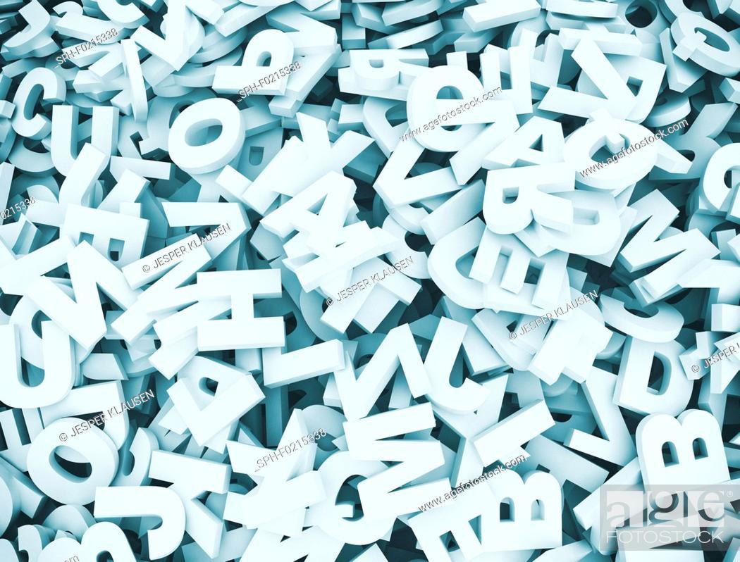 Stock Photo: Letters, illustration.