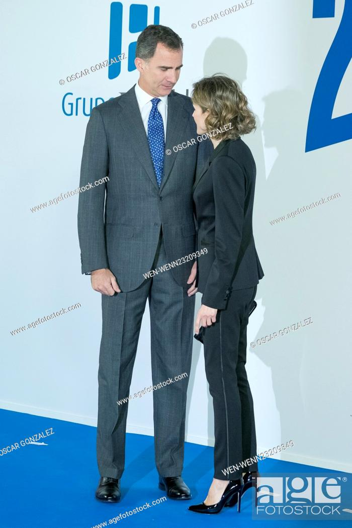 Stock Photo: King Felipe VI of Spain and Queen Letizia of Spain attend the '20 Minutos' newspaper 15th anniversary at the Real Casa de Correos Featuring: King Felipe VI of.