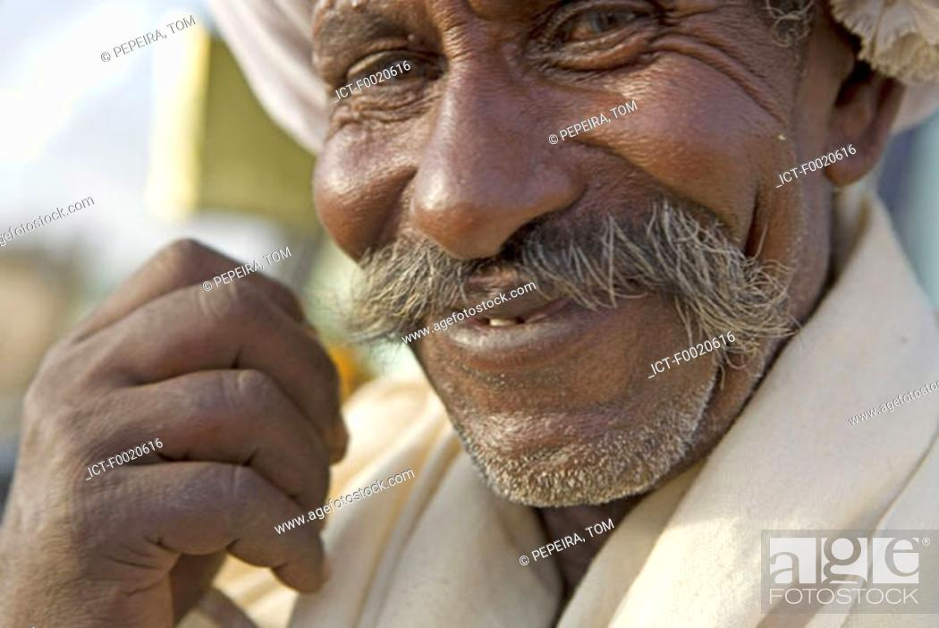 Stock Photo: Sudan, Bayuda desert, man portrait.