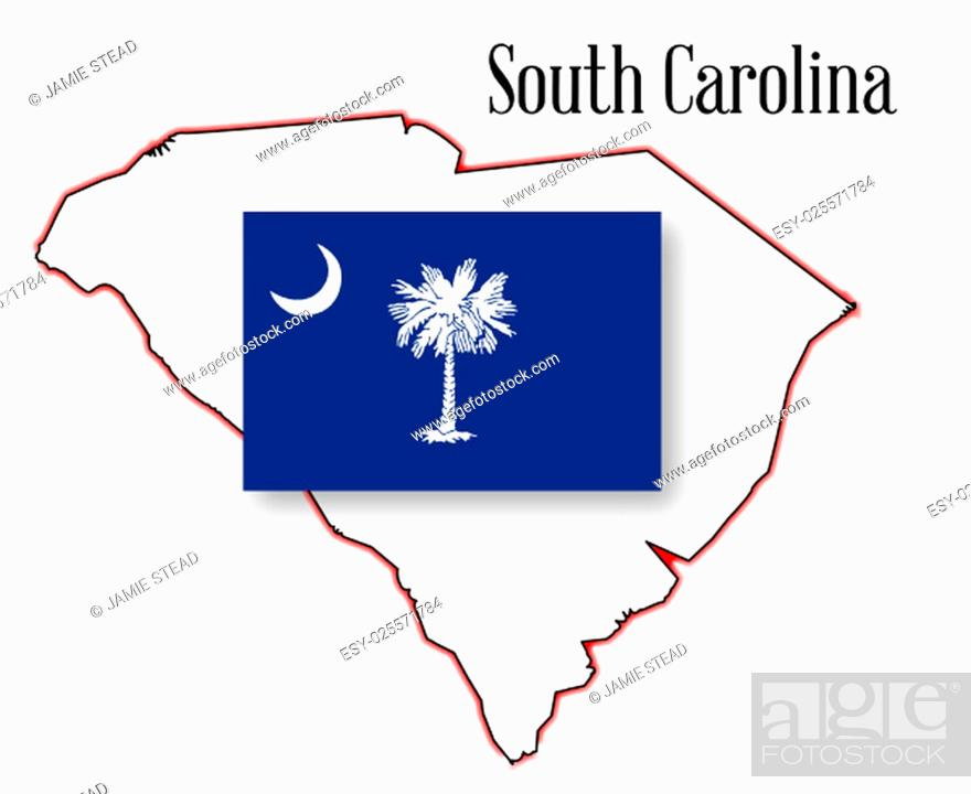 Imagen: Outline map of the state of South Carolina with map inset.