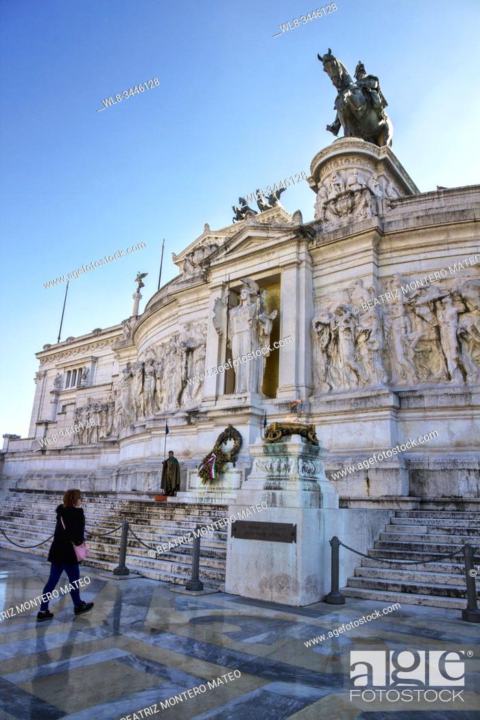 Stock Photo: Victor Manuel II Monument in Venezia Square in Rome (Italy).
