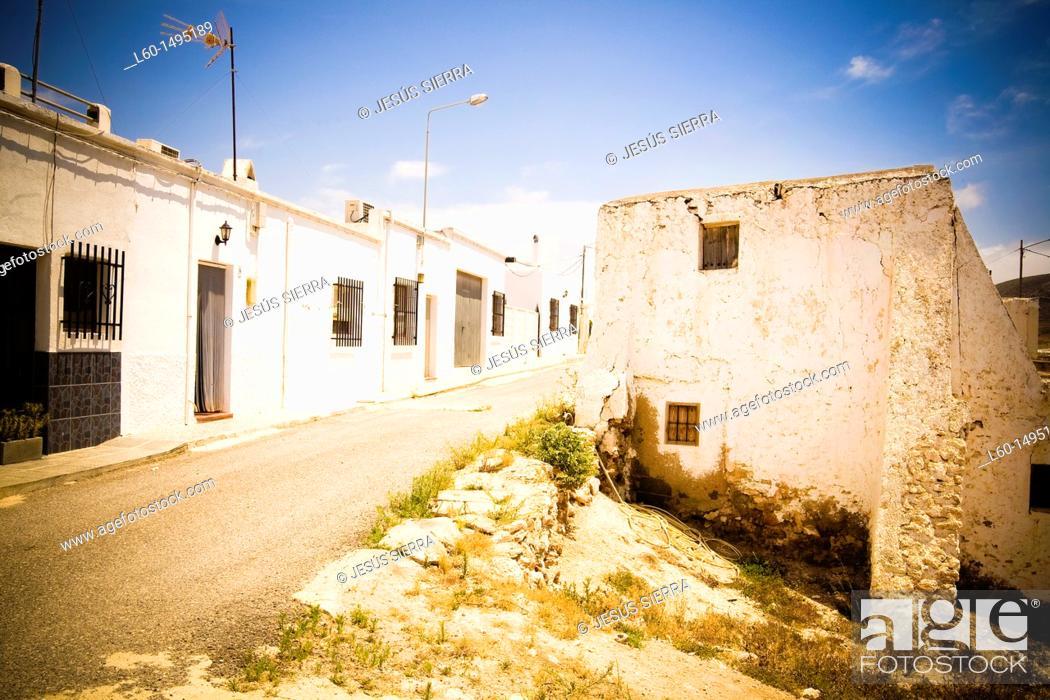 Stock Photo: Los Albaricoques, Cabo de Gata, Almeria Province, Andalusia , Spain.